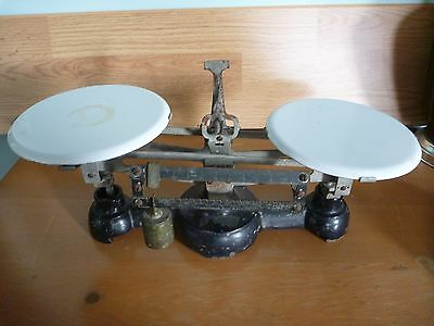 ANTIQUE Schnar TWO BEAM BALANCE SCALE 1915 SCIENCE MEDICINE Apothecary