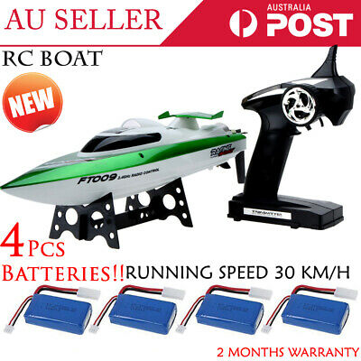 2.4GH High Speed 30Km/H Remote Control boat RC Racing Boat + 3 x Battery GREEN