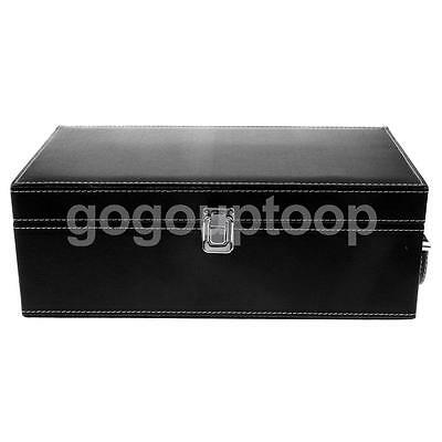 1:6 Black Wooden Storage Box Trunk w/ Handle for Two Blythe 12'' Doll Figure