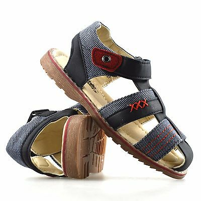 Boys Kids New Summer Beach Casual Touch Strap Walking Sports Sandals Shoes Size