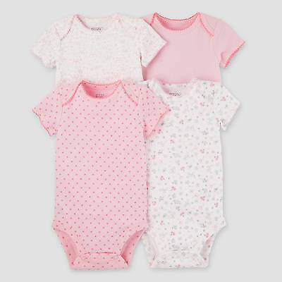 Baby Girls' 4pk Bodysuits Pink - Precious Firsts™ Made by Carter's®