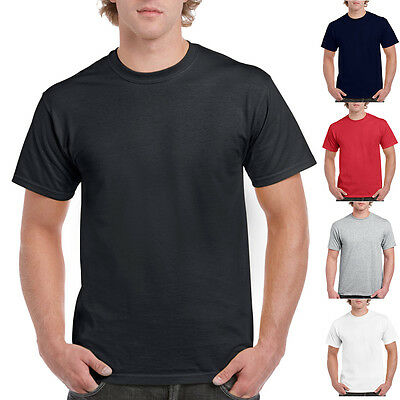Single Plain Blank Gildan 2000 100% Heavy Cotton T Shirts 200g/m2 18 colours