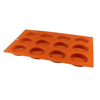 Silicone Molds Oval Shape Trays - 12 Holes Chocolate Ice Cube Mould Muffin Donut