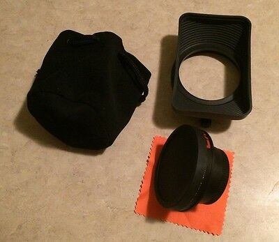 16x9 Inc Wide-angle Lens Converter for 46 mm HD Camcorder Lens (w/ Lens Shade!)
