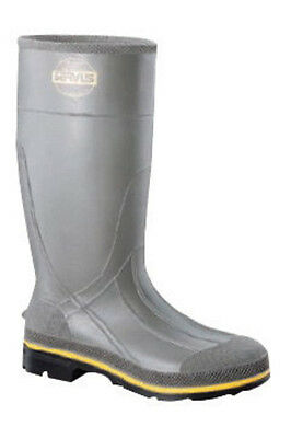 Servus  By Honeywell Size 8 PRO  Gray 15'' PVC Knee Boots With TDT  Dual Compou