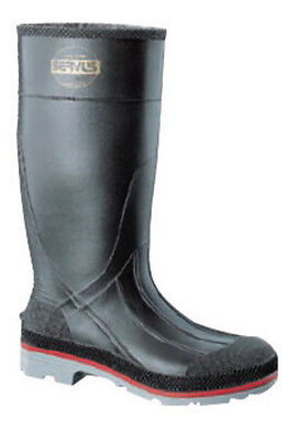 Servus  By Honeywell Size 9 XTP  Black 15'' PVC Knee Boots With TDT  Dual Compo