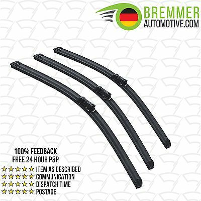Ford Mondeo Hatchback MK 4 (2007 to 2015) Wiper Blade Complete Set X3 Front Rear