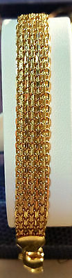 18 K Yellow Gold Chain Bracelet 14.9 Grams Dbw