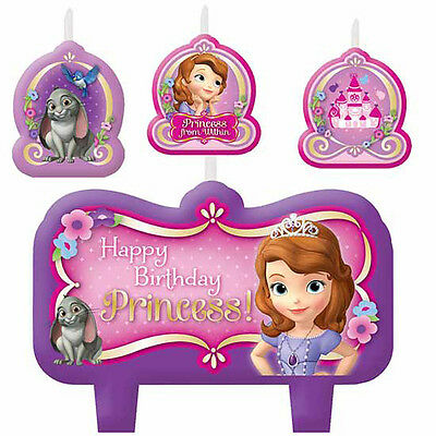 Disney Sofia the First Birthday Party Candles - Set of 4