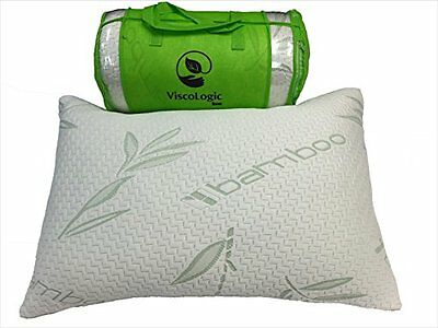 Set of 2 Viscologic Shredded Memory Foam Pillow With Cool Bamboo Mix Fabric