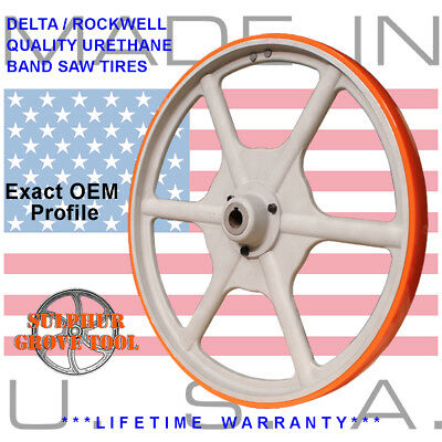 "Delta / Rockwell 20"" Urethane Band Saw Tires rplcs 2 OEM parts 426040945002"