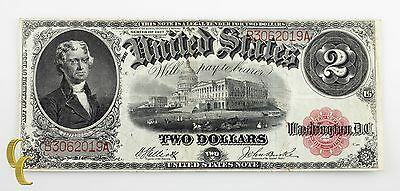 Series of 1917 $2 US Note Large Size Legal Tender Elliott/Burke (VF Condition)