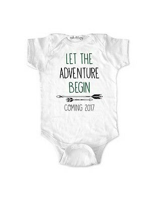 Let the Adventure Begin Coming 2017 surprise baby birth pregnancy grandparents
