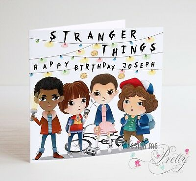 STRANGER THINGS Personalised Birthday Card - Girlfriend Son Daughter ELEVEN