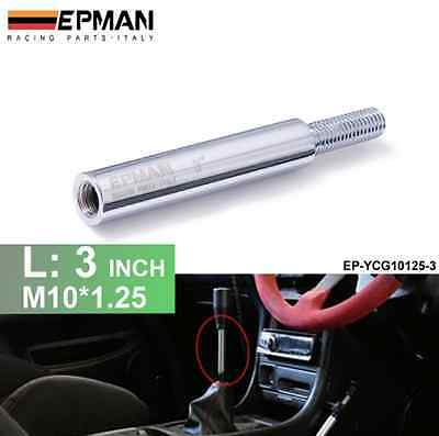 "3"" M10x1.25 Aluminium Shift Knob Extension Extender For Manual Gear Lever"