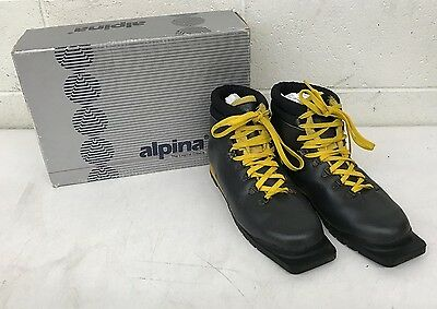 Alpina Sierra 75 3-Pin 75mm Nordic Norm Cross Country Ski Boots EU 43 US 10 LOOK