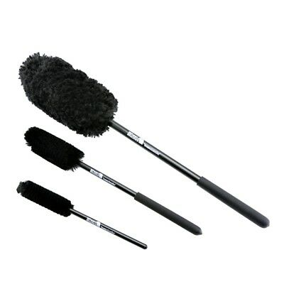 Wheel Woolies 3 Piece Wheel Brush Kit (A) with Comfort Grip Handles
