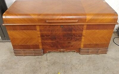 Lane Art Deco Waterfall Cedar Chest Trunk 1940's