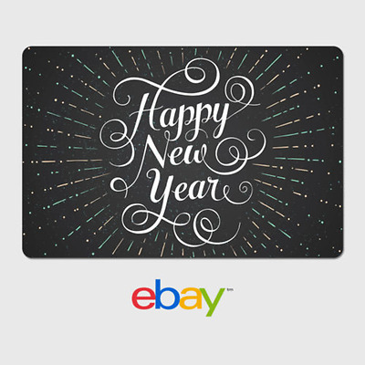 eBay Digital Gift Card - Happy New Year - Via Email Delivery
