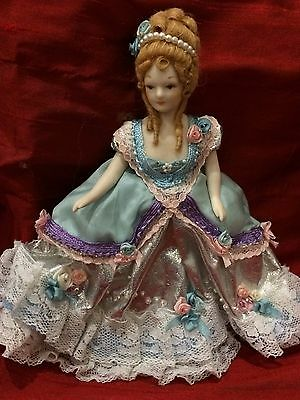"""Dollhouse Miniatures, 5"""" Reproduction Dolls, Elaborate Victorian Dressed"""