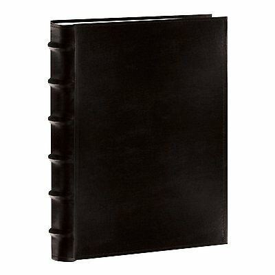 "Photo Pioneer Sewn Leather Album 4x6"" Cover Frame Holds Black 300 Photos, New"