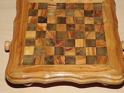 Vintage Wooden And Metal Chess Set