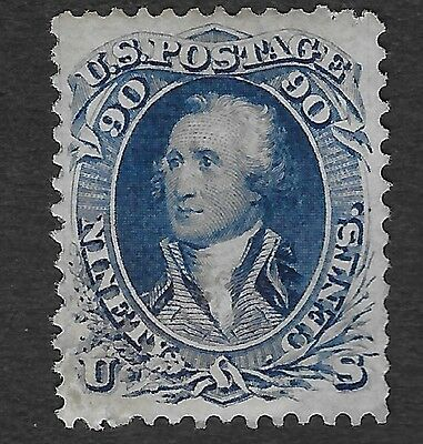 US Scott#72 USA 1861 Unused Hinged blue High Cat. Value Nicely Centered VF-XF ng