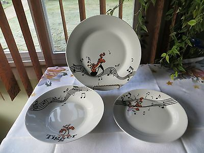 Set of 3 Disney Winnie the Pooh TIGER ENESCO ceramic dishes