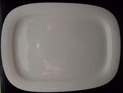 "Scala BIANCA by HUTSCHENREUTHER 15.75"" LARGE RECTANGULAR TURKEY SERVING PLATTER"