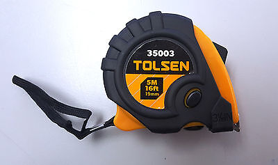 Measuring Tape Tolsen 5M x 19mm **NEW** Metric SAE Imperial Ruler Retractable