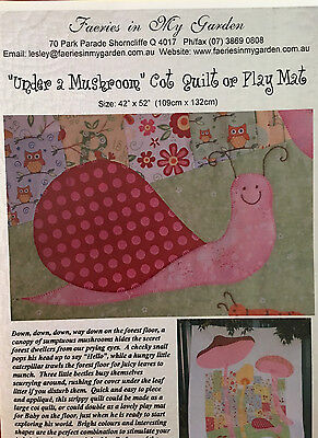"""Cot Quilt/Play Mat Pattern """"Under a Mushroom"""" by Faeries in My Garden"""