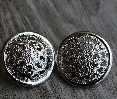 """3/4"""" 20mm20pcs No Sew Mixed Style Replacement Metal Studs Jean Pants Buttons"""