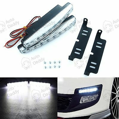 2X 8LED 12V Daytime Running Light DRL Car Fog Day Driving Lamp Daywhite