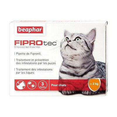 BEAPHAR Fiprotec Pipettes antiparasitaires - Pour chat