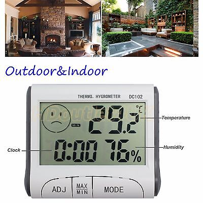 Indoor Or Outdoor Home Office LCD Digital Temperature Humidity Meter Thermometer