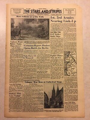 Stars and Stripes March 8 1945 Cologne Was Won at Cathedral Steps