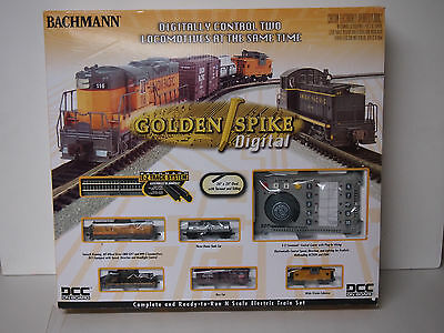 Bachmann Industries Golden Spike Ready to Run Electric Train Set with Digital