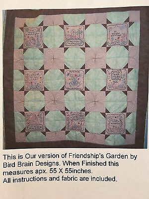 Complete Quilt Pattern including fabric by Bird Brain Designs