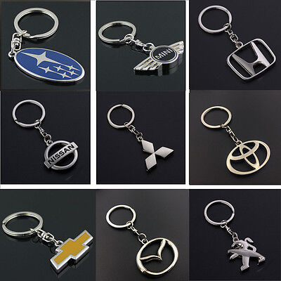 Fashion Auto Car Logo Key Chain Ring Pendant Keychain Keyfob Metal Keyring Hold