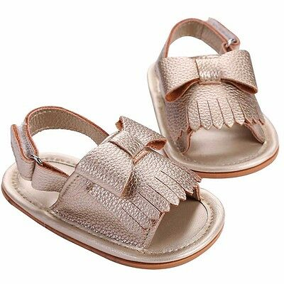 Princess Pram Shoes Baby Girl Soft Sole Anti-slip Toddler Frist Shoes 0-18Months