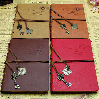 Retro Vintage Classic PU Leather Diary Notebook String Keys Journal Pop