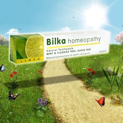Bilka HOMEOPATHY Natural Whitening Toothpaste With LEMON FREE Flouride