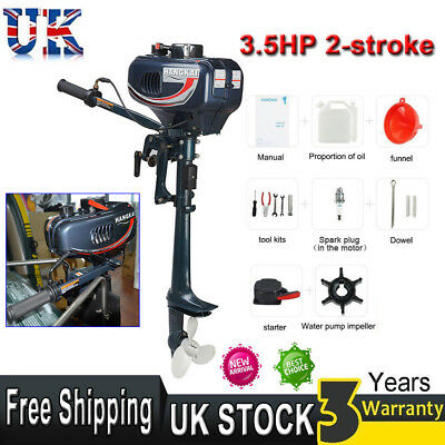 3.5HP 2-stroke Outboard Motor Short Shaft Fishing Sail Boats Engine w/CDI System