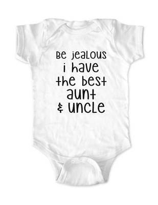 Be jealous i have the best aunt & uncle baby bodysuit infant toddler youth shirt