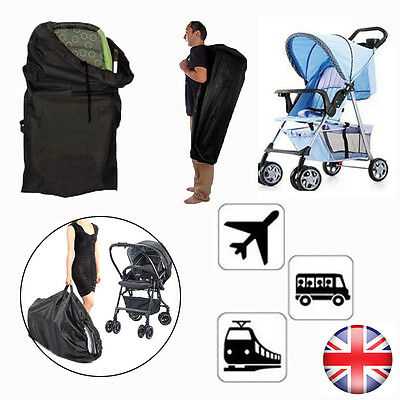 Baby Travel Check Gate Bag Umbrella Stroller Buggy Pram Pushchair Carrying Cover