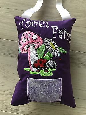 Tooth Fairy Pillow Lady beetle Novelty Gift Lost Tooth