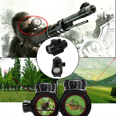 Tactical Red Green Dot Laser Sight Scope Night Vision 1x40RD Telescope Air Rifle