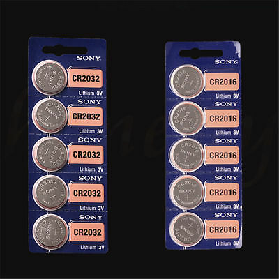 Sony CR2032 CR2016 3V BatteryCoin Cell Battery For Watch 5/10Pcs New in Package