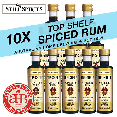 10 Still Spirits Top Shelf Spiced Rum Essence home brew spirit making gold rum