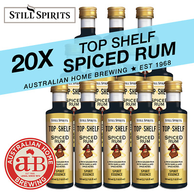 20 Still Spirits Top Shelf Spiced Rum Essence home brew spirit making gold rum